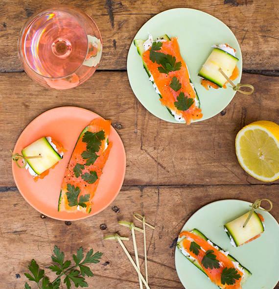 Salmon Courgette Rolls