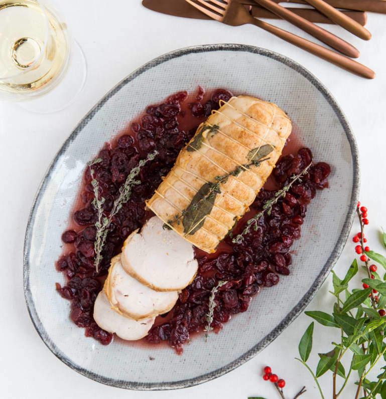 Turkey Breast Roast with cranberries