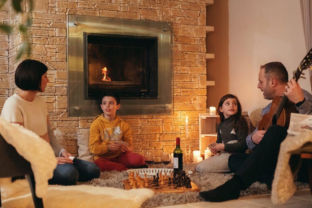 bordeaux wijn vuur gezellig