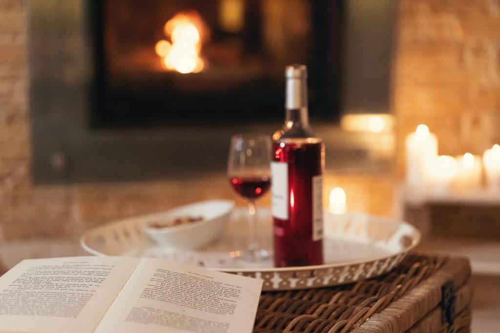bordeaux wijn clairet haardvuur