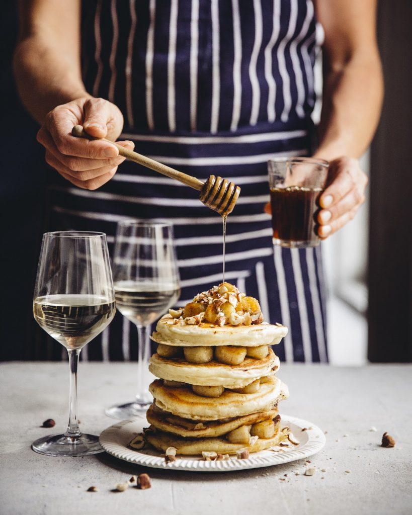 Fluffy banana pancakes