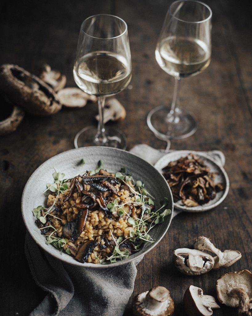 risotto champignons graves wijn