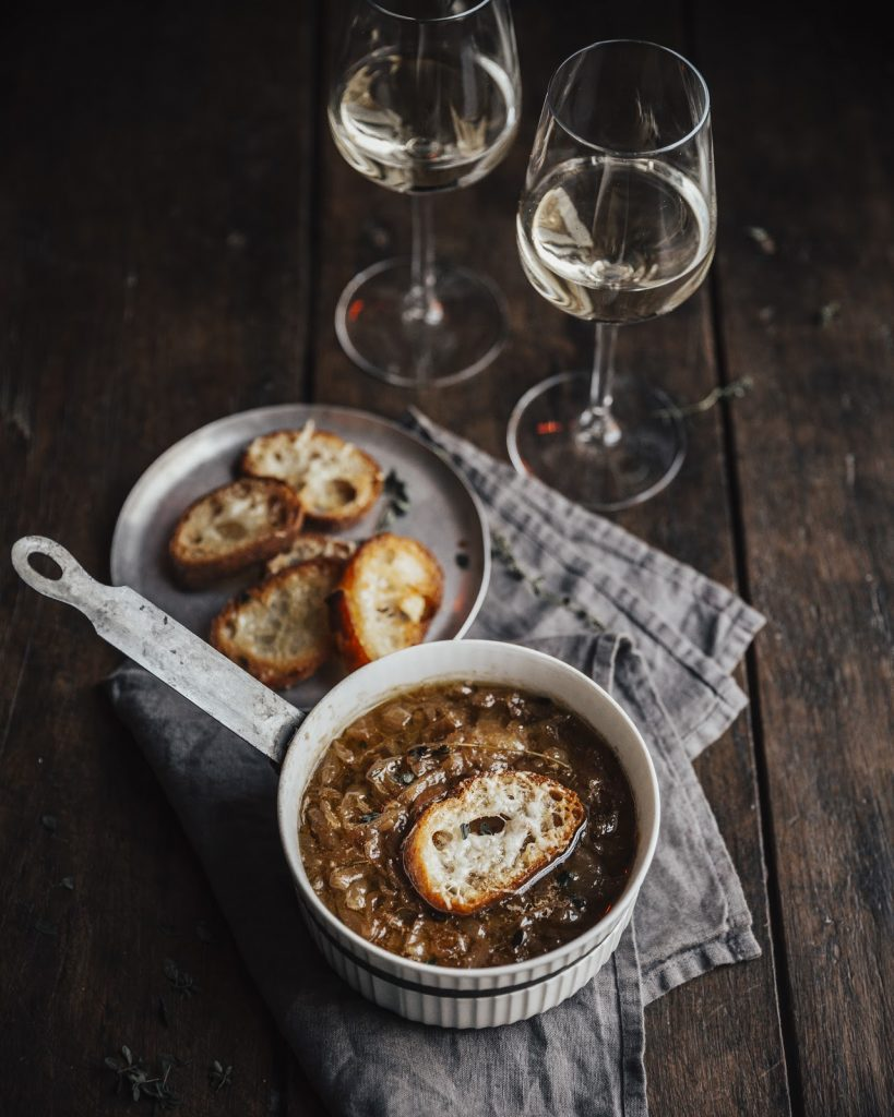 Soup and wine