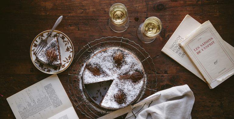Rezept: Mandel-Schoko-Birnen-Torte