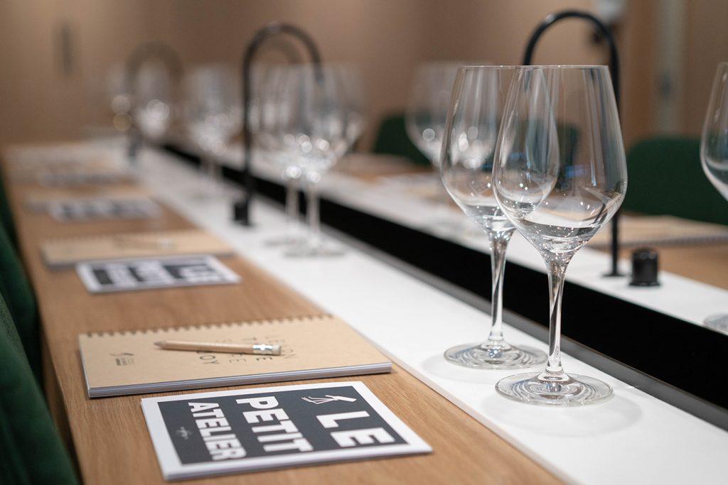 verre atelier vin