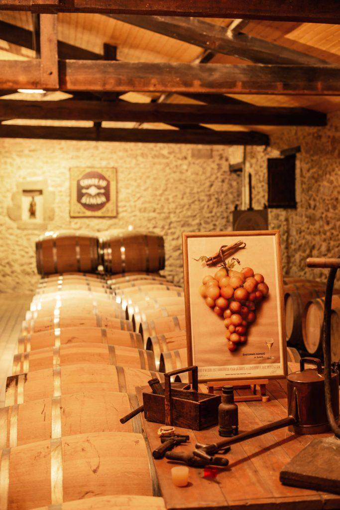wijnkelder druiven sauternes