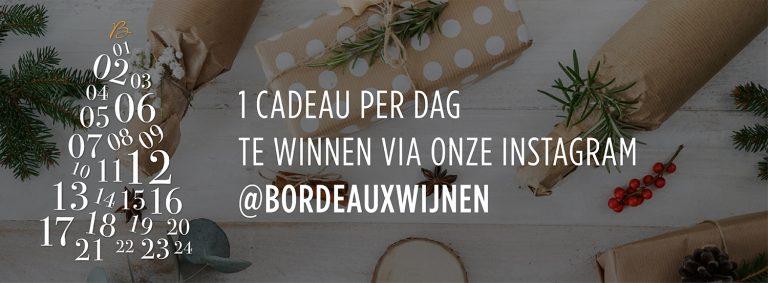 Win elke dag in december een kerstgeschenk ! Wijnkits, stijlvolle crémant glaasjes, een sommelier set, massages, enz!