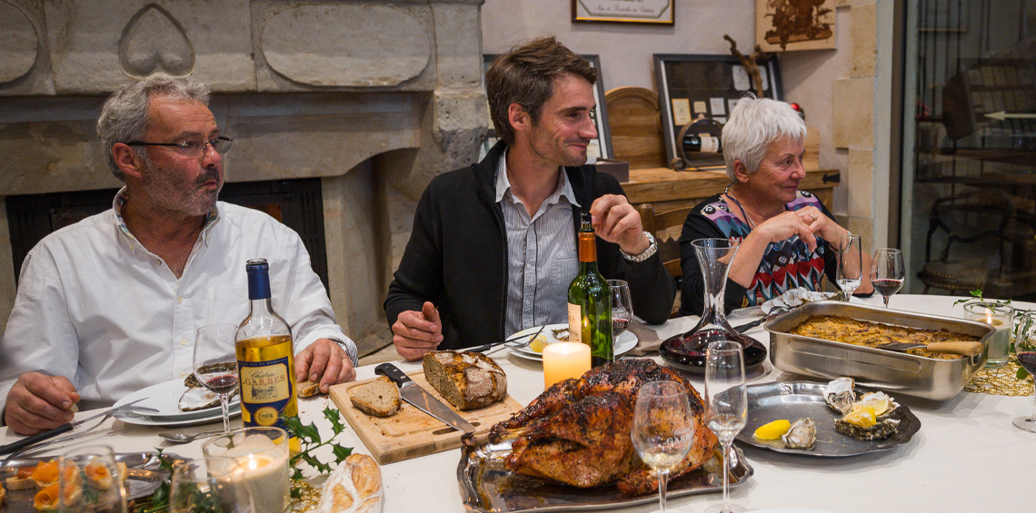 Holiday Table with Bordeaux wines