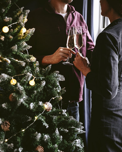 cheers sparkling bordeaux wine christmas tree