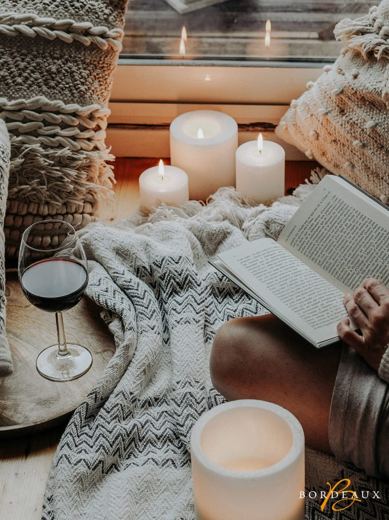 cosy chill red bordeaux wine