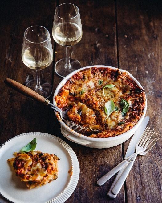 vegetable lasagna bordeaux white wine