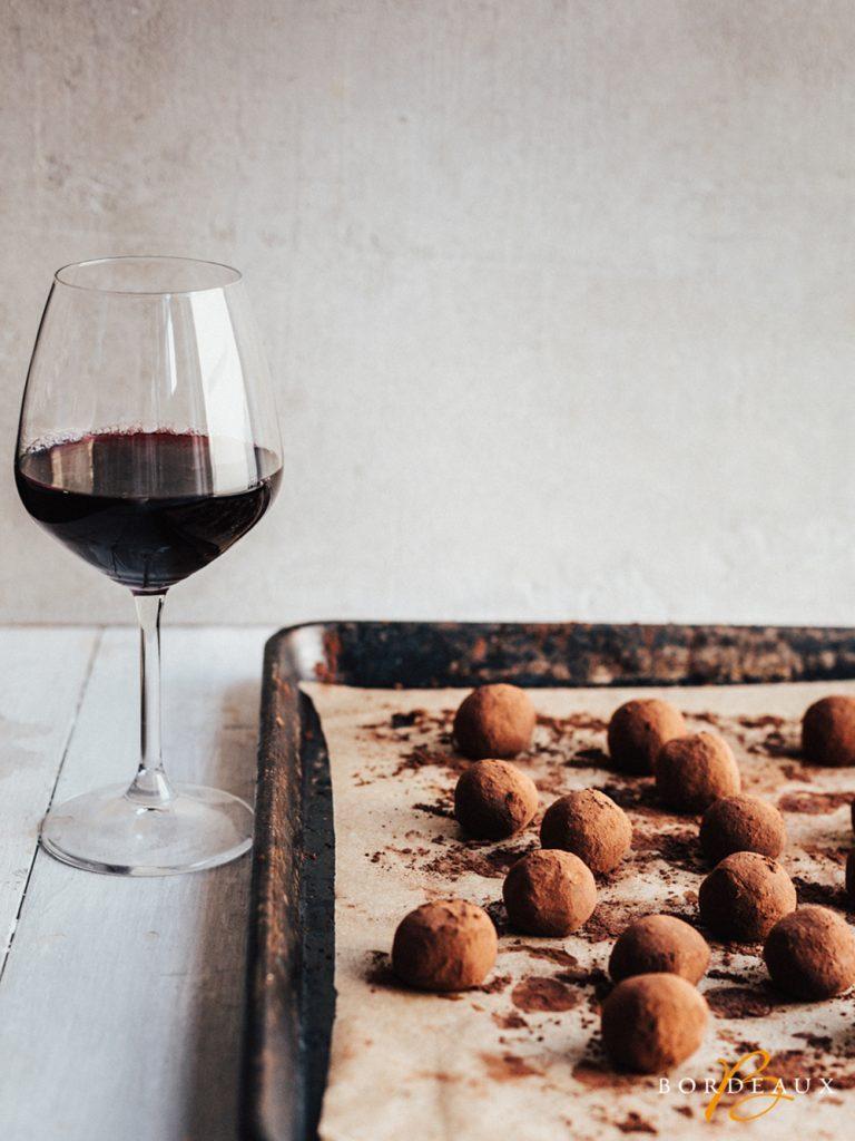 truffe chocolat vin