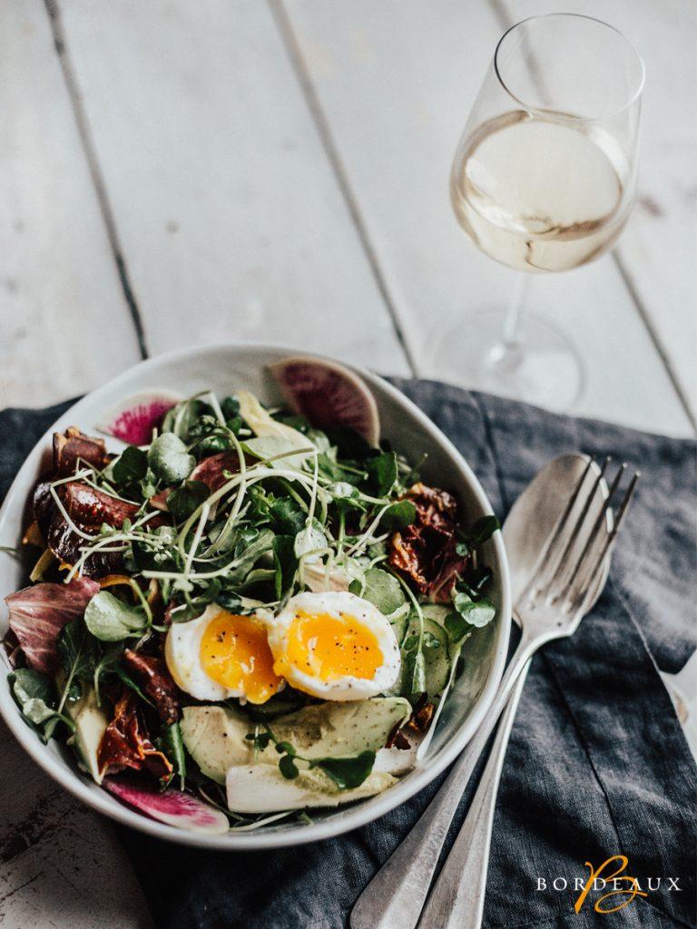 salade oeuf vin
