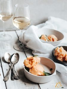 peach sorbet bordeaux wine