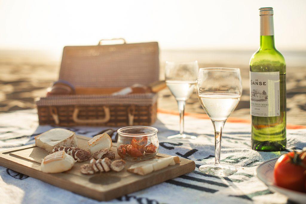 côte plage apéro vin