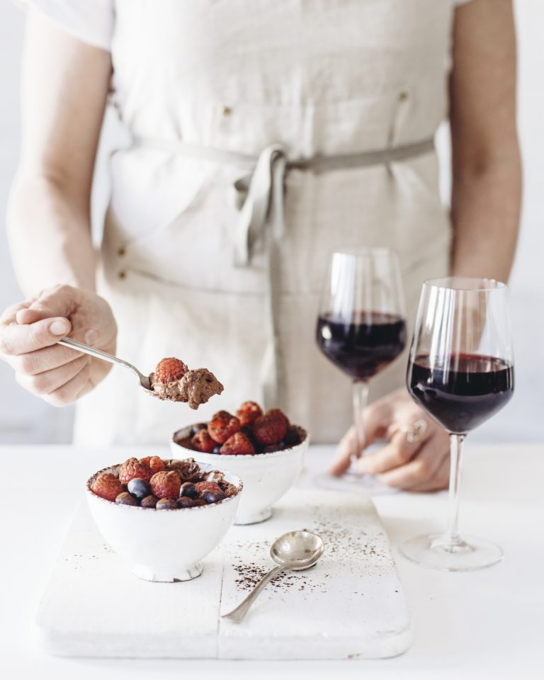 mousse au chocolat vin rouge