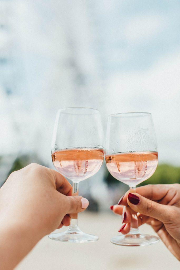 rosé barbecue verres
