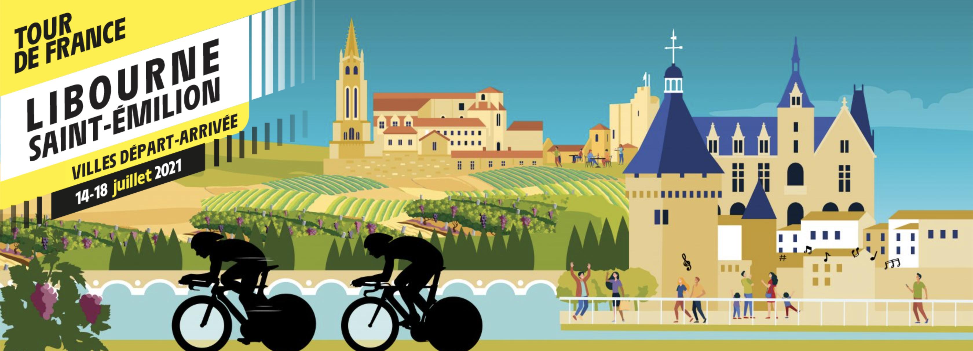 Du 14 au 18 juillet, Saint-Émilion et ses vignerons accueillent le Tour de France !