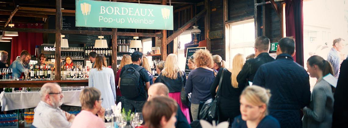 Impressionen von 3 Tagen Bordeaux Pop-up Weinbar