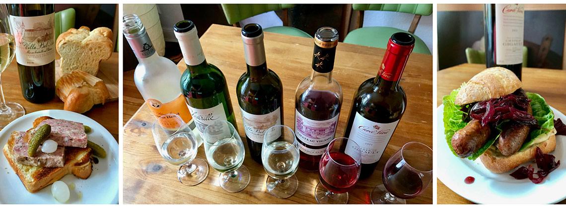Stevan Paul bringt Bordeaux-Wein und Wurst auf den Tisch