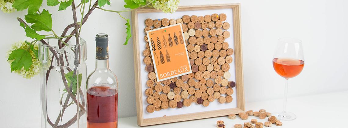 Pinnwand aus Kork – Weinkorken wieder verwenden