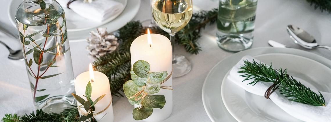 Een natuurlijke en DIY kersttafel