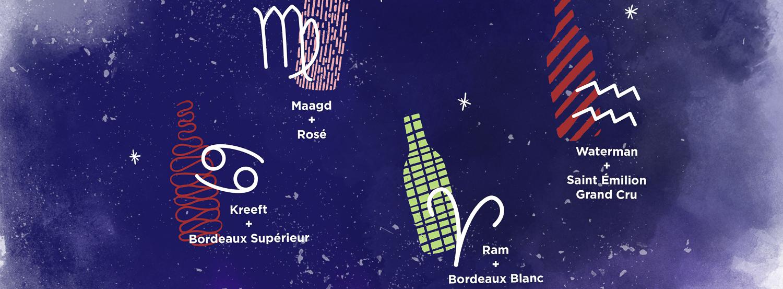 Welke bordeauxwijn past het best bij je sterrenbeeld?