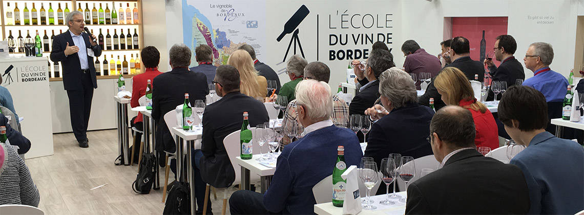 L'École du Vin de Bordeaux announces packed programme of events at ProWein 2018