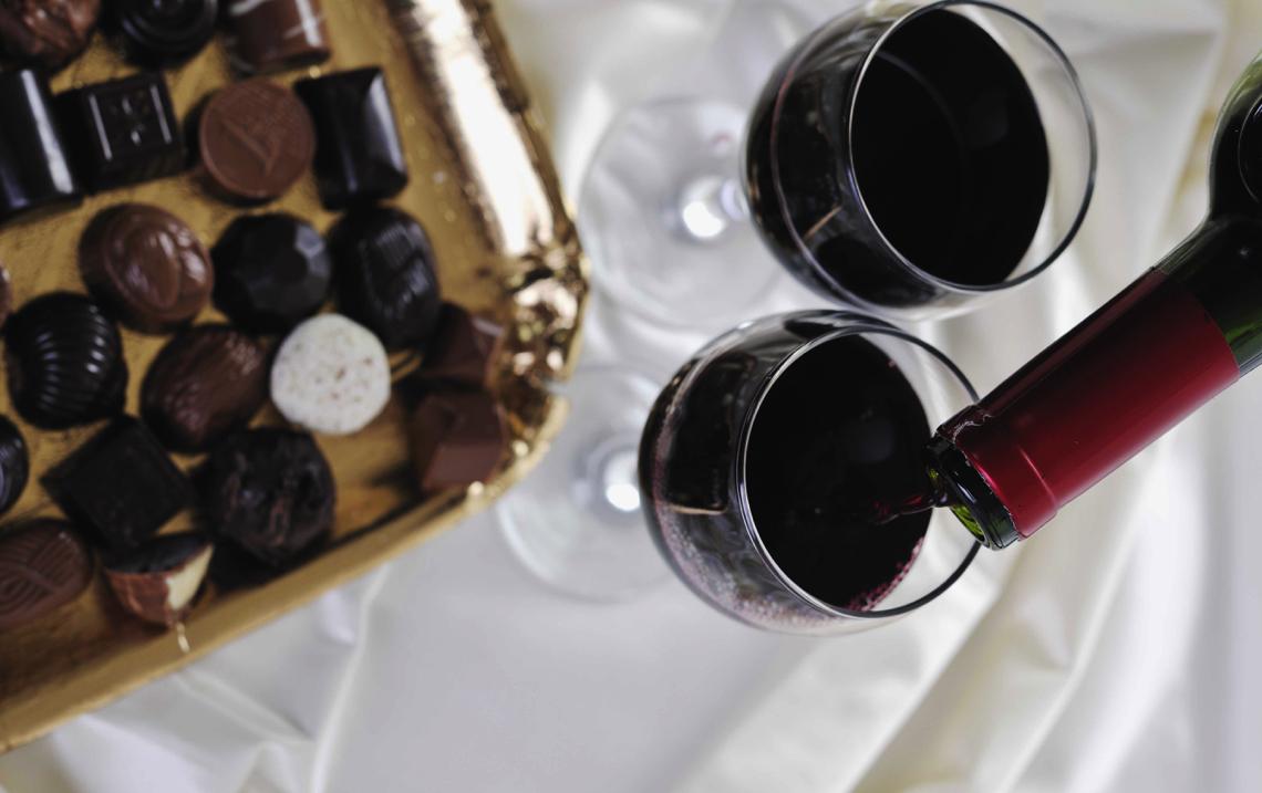 Valentine's Day Chocolate and Wine Pairings