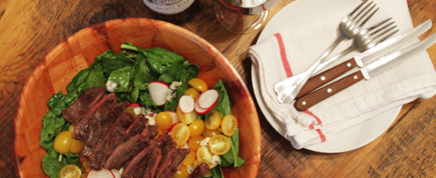 At Home with Bordeaux: Skirt Steak Salad [RECIPE]