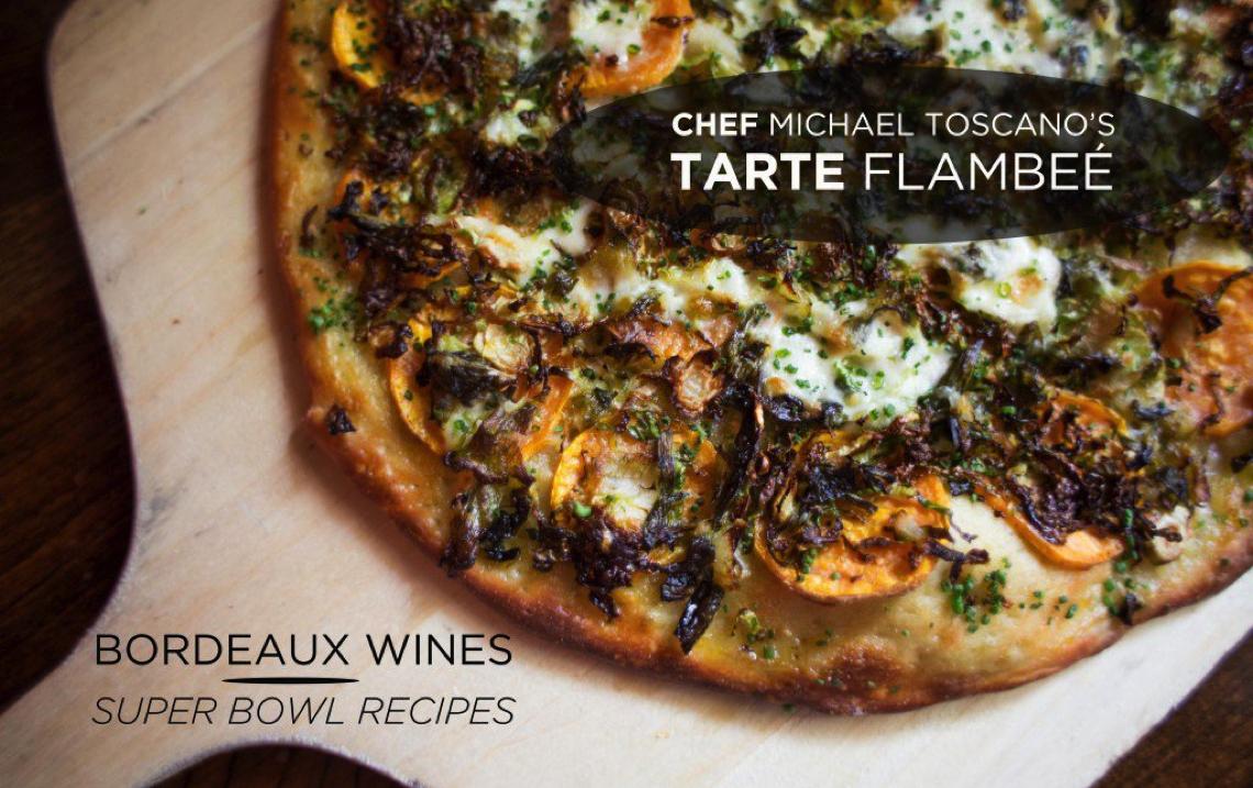 Bordeaux Wines' Super Bowl Recipes: Tarte Flambeé