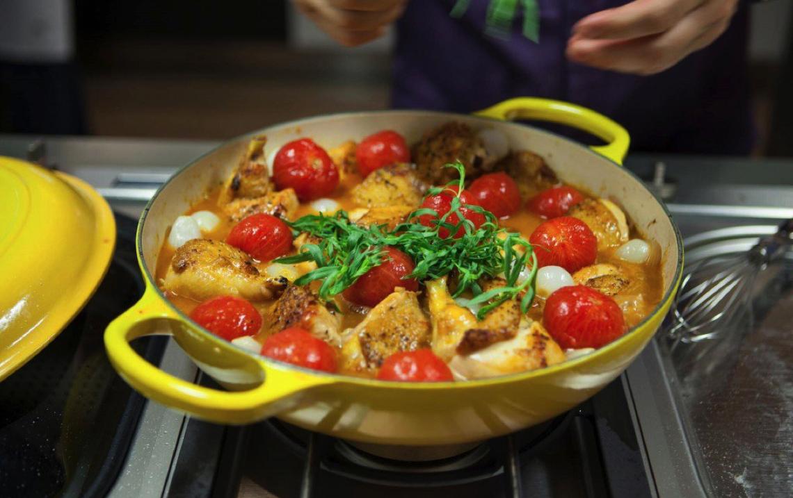 Chef Daniel Boulud's Poulet à l'Estragon Recipe