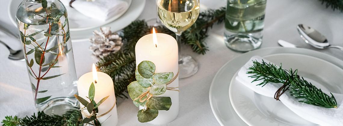 3 idées pour une table de Noël Do It Yourself