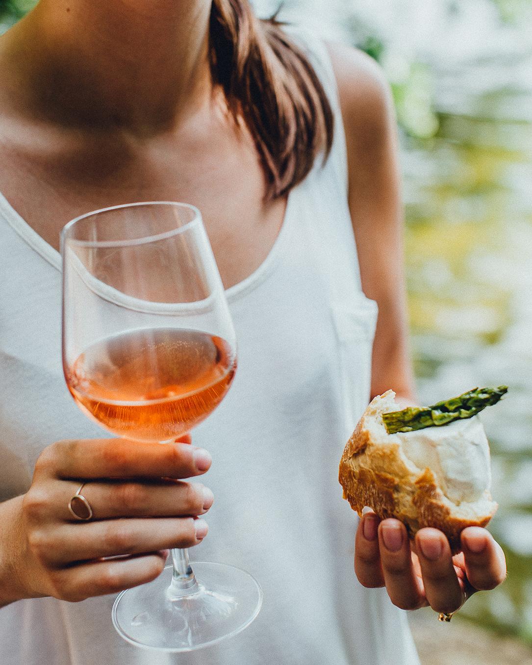 rosé wijn glas