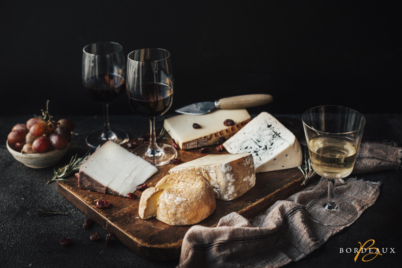kaas witte rode wijn