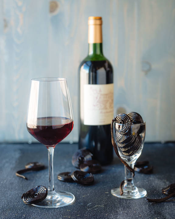wijn zoet snoep drop