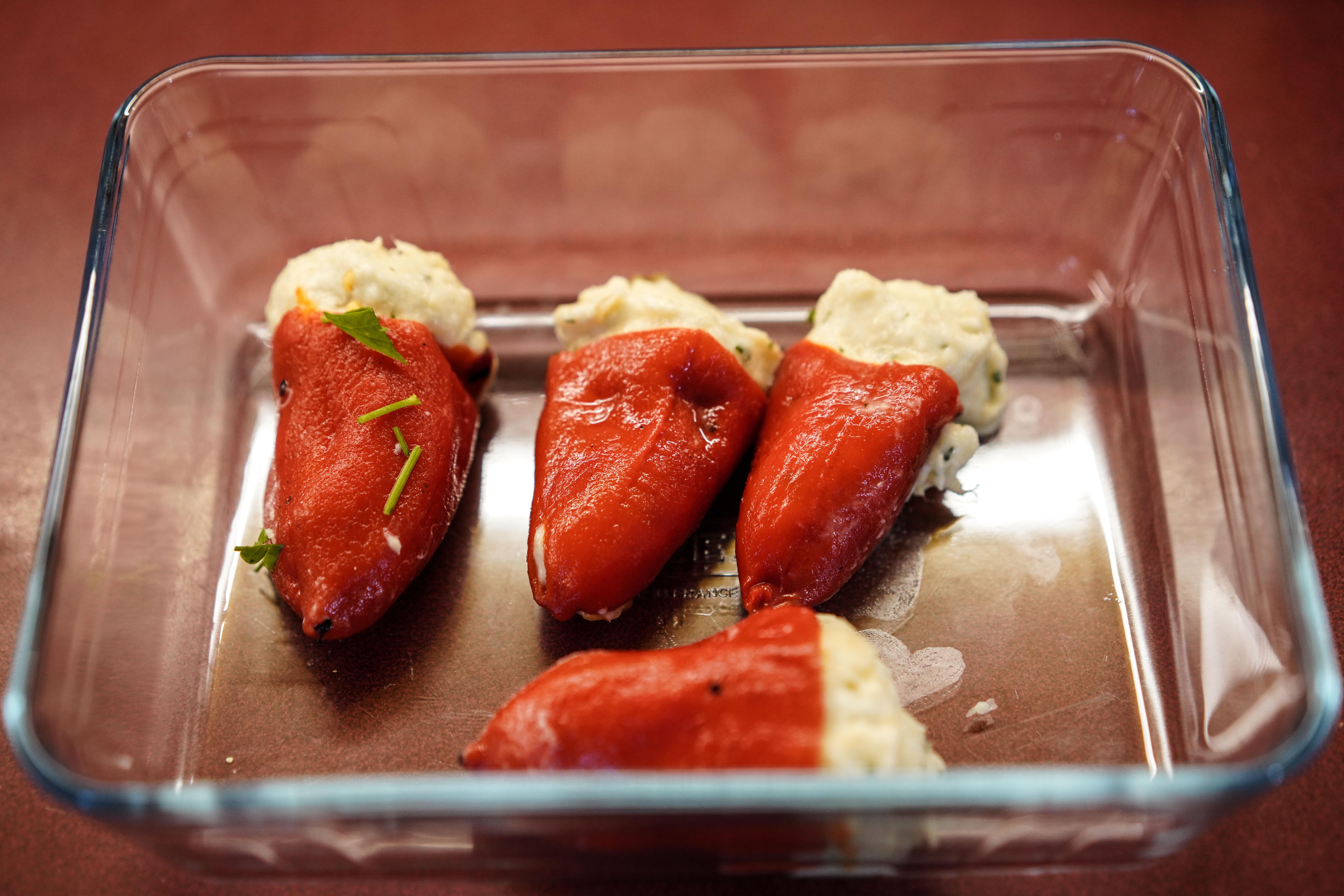 Piquillopaprika's gevuld met een brandade van kabeljauw recept