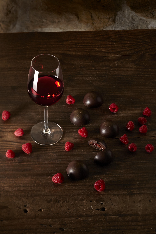 wijn zoet chocolade