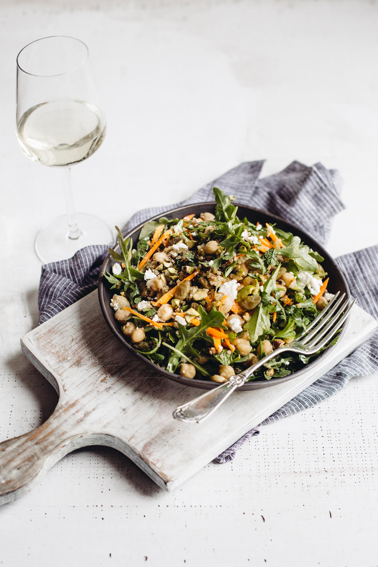 kikkererwts marrokaans salade wijn